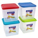 Food Storage Container 5 Qt 4 Colors With Clear Bottoms #keep Fresh L5500