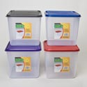 Food Storage Container 5 Qt 4 Metallic Colors With Clear Bottoms #keep Fresh L5500