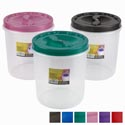 Food Storage Container Screw Top 7 Qt 6 Metallic Lid Colors Clear Btm #roto O Fresh 7000