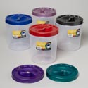Food Storage Container Screw Top 5 Qt 6 Metallic Lid Colors Clear Btm #roto O Fresh 5000