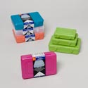 Storage & Craft Containers 3pc Set (small) 5 Colors #maxima 444, 333, 222