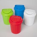 Rubbish Bin Mini W/wing Lid 5.25 X 7 In Pdq
