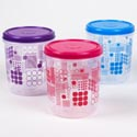 Food Storage Container 3l 12.68 Cups Printed Ruby #1 3 Asst Colors Geometric