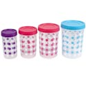 Food Storage Container 8pc Set Ezee Lock Printed