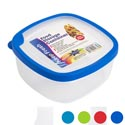Food Storage Container Square Rubber Rim On Lid 1l 6.3 X 6.3 X 3.0