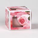 Candle Scented 3oz Window Boxed Rose Bouquet