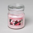 Candle Scented Apothecary Jar W/lid 3 Oz Rose Bouquet