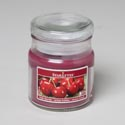 Candle Scented Apothecary Jar W/lid 3 Oz Fresh Cherries