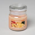 Candle Scented Apothecary Jar W/lid 3 Oz Peach Mango