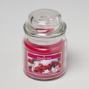 Candle Scented Winter Berries 3 Oz Apothecary Jar W/lid Made In Usa