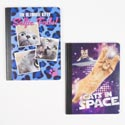 Compostion Book 2 Assorted Check Meowt *1.99* # Bts-442404