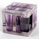 Drinkware 4pc Set 17 Oz Coolers Plum Window Glass Litho Boxed