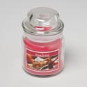 Candle Scented Warm Apple Pie 3oz Apothecary Jar Made In Usa