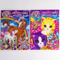 Coloring Book Lisa Frank Giant 2 Titles 96 Pages #b148925-96p In 24pc Pdq Made In Usa