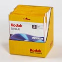 Kodak Recordable Dvd-r 2pk 2-36pc Display 16 X 4.7gb *2.99*
