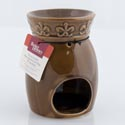 Oil Warmer 5.5in Brown Ceramic Bhg Hang Tag (5.00) # Bs50723ps