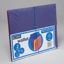 Tops Expandable File Folder W/ Elastic Cord Closer Wallet 2pk Assorted #51003-2p
