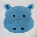 Bathroom Rug Safari Tufted Blue Hippo *29.99* # P1275600850007