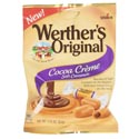 Candy Cocoa Creme Soft Caramels Werthers Original 2.22 Oz Peg Bag