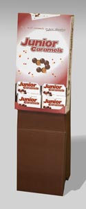 Candy Junior Caramel Theater Box 3.6 Oz Floor Display