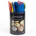 Spatula Silicone Oneida 4-20pc Cylinder Display Asst Clrs*3.99* See N2