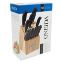 Knife Set W/block 12pc Oneida Soft Touch Litho Boxed *59.99*