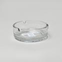 Ashtray 4inch Glass Round Diamond
