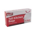 Trash Bags 12 Ct - 13 Gal Drawstring - Tall Kitchen White