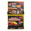 Candy Cars 3 Lip Pops 3pk 2.46 Oz Gummy Theather Box In Floor Display