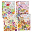 Coloring Book Adult Floral 64 Pg 4 Assorted In Pdq