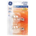Light Bulbs 2pk G16.5 29w=40w Ge Globe Halogen Candle Base *4.99* Carded Clear