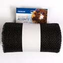 Burlap Craft Roll 6in X 20ft Black Decorative Accents *8.99*