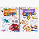 Coloring Book School Zone 2 Asst 96pg In Pdq Animals/creepy Crawlers