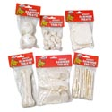 Dog Rawhide White Small 6 Asst Poly Bag In Pdq Display