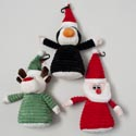Dog Toy Christmas Plush 11.5in W/squeaker 3 Assorted In Pdq Santa, Penguin, Reindeer
