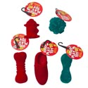 Dog Toy Christmas 6 Assorted Flocked W/squeaker In Pdq Flocking Material