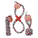 Dog Toy Christmas Rope Chews 3 Assorted In Pdq