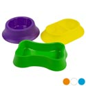Pet Bowl 3 Shapes 6 Colors In Pdq Asst #2 Round/double/bone Shapes