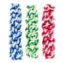 Dog Toy Rope Twist 7.5 Inch 3 Colors W/hang Tag In Pdq