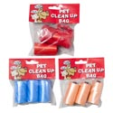 Doggy Clean-up Bags 2 Strips Of 3ct 15 Bag Rolls & 2 Strips Of 1ct 15 Bag Rolls With Holder
