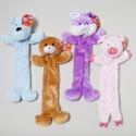 Dog Toy Plush With 4 Squeakers 4 Animals 18in Long/flat In Pdq Hang Tag #p11193