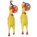Dog Toy Vinyl Chicken With Squeaker 13-1/4 Inch On Chain 4 Chains Per Case 12 Per Chain