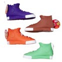 Dog Toy Vinyl High-top Sneaker With Squeaker 4 Colors In Pdq Hang Tag #s11050