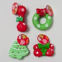 Dog Toy Christmas Vinyl W/squeak Wreath/bone/gift/tree 4ast Pdq Hang Tag #s20082-83-54-55