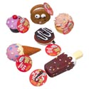 Dog Toy Vinyl With Squeaker 6 Asst Food Desserts In Pdq Hang Tag #s201211