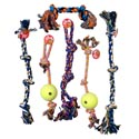 Dog Toy Rope Chews Xl 6 Asst Styles And Colors In Pdq Hang Tag