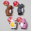 Dog Toy Vinyl With Squeaker 4 Asst Animals In Pdq Hang Tag #abcd