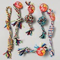 Dog Toy Rope Chews 6 Assorted/ Multi-colors In Pdq #14068 Hang Tag