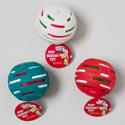 Dog Toy Christmas Vinyl Solar Ball W/squeaker 3 Colors In Pdq #14041e