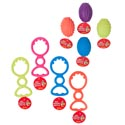 Dog Toy Rubber & Tpr 2 Styles 4 Colors In Pdq Hang Tag #gt11014